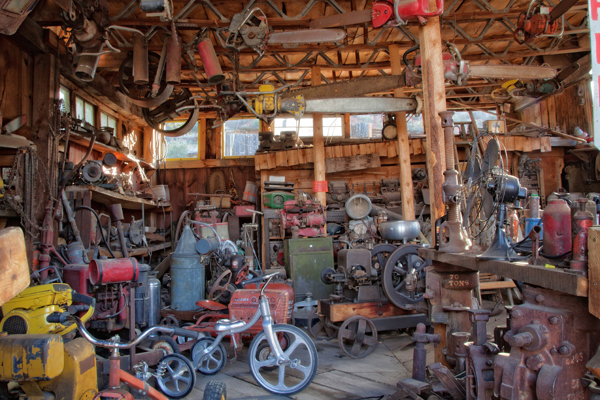 old tricycles, chainsaws, outboard motors, you name it