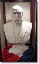 a bust of georges clemenceau
