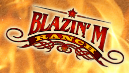 blazin' M ranch logo